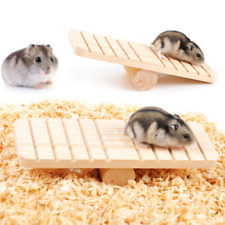 Hamster Seesaw Squirrel Mouse Pet Toys Wood Durable Pet Small Animals Climbing