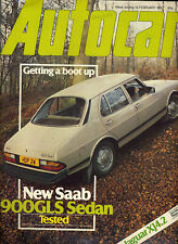 Autocar - 14th February 1981 Saab 900GLS Jaguar XJ4.2 DeLorean DMC12