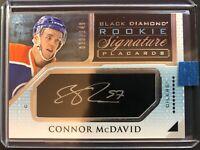 2015-16 Connor McDavid Black Diamond Rookie Signature Placards Auto /149