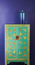 Baumhaus The Nine Schools Oriental Decorated Blue Medium Cabinet - Free Delivery