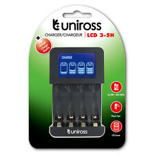 Uniross LCD intelligente AA/AAA FAST CHARGER 3-5 H UK