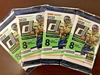 2020 Panini Donruss Football Pack HOT LOT OF 4 PACKS Joe Burrow Rookie? prizm