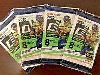 2020 Panini Donruss Football Pack HOT LOT OF 4 PACKS Joe Burrow Rookie? mosaic