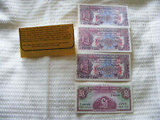 British Armed Forces 4 One Pound Notes - 3 Of Original Series 2 & 1 Of Series 4