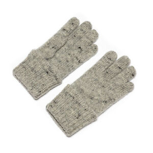 New Dachstein Woolwear Austrian 100% Boiled Wool Grey Cuffed Gloves
