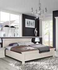 Bett 180x200cm pinie weiß Bettgestell Doppelbett Landhaus Holzbett 55751099