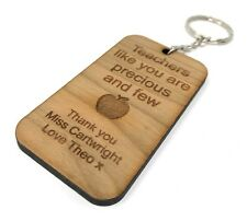 Teacher Gift Presents School Nursery Leaving key ring