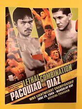 Manny Pacquiao vs David Diaz Boxing Program 2008 WBC World Championship, Mint