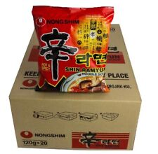 1 Karton Nong Shim Shin Ramyun *SCHARF* Instant Nudelsuppen 20x120g Nudel Suppe