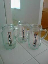 "Bud Light Golf Bag 6"" Beer Glass Mugs (3)"
