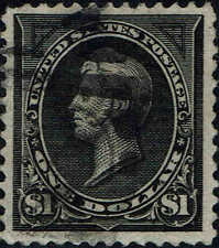 #261 1894 1 DOLLAR PERRY BUREAU ISSUE USED--XF 2007 PSE CERTIFIED