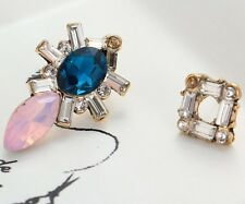 Drop Dangle Stud long Earrings 103 1 Pair Elegant Multi Crystal Rhinestone Ear