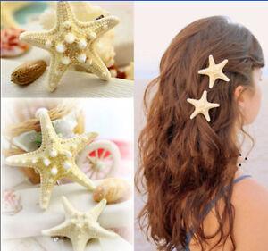 1pc Hot Womens Girls Sweet Nice Starfish Summer Beach Sea Star Hairpin Hair Clip