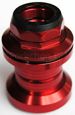 "Aluminum alloy old school BMX bicycle headset 1"" threaded 32.5mm cups RED"