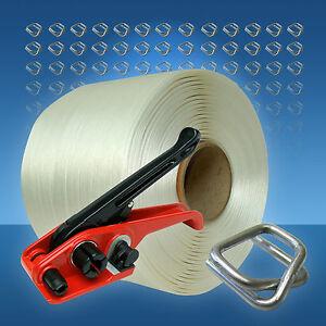 Textilband Umreifungsset 16 mm, 340 m Umreifungsband, Umreifungsgerät, Umreifung
