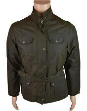Plaza señoras chaqueta con cinturón de cera Elveden Oliva (esjk 001)
