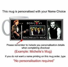 Jon Bon Jovi Mug custom printed with your name unique unusual gift id12690P