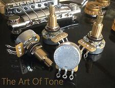 4X Set CTS 525K Pots - 5% Tolerance - LONG Split Shaft Audio (500K-550K) - 450G