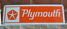 Plymouth Chrysler Orange SIGN Mopar Hemi Dodge Charger Mechanic Garage Shop 7day
