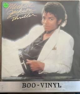 Michael Jackson -Thriller -VINYL LP Stereo Epic Epc 85930 Inner Lyric Sheet EX