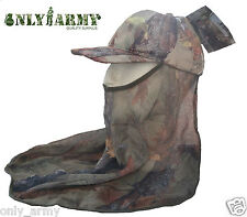 Percussion REAL TREE ® Shooting Cap With Veil Mesh Deer Stalking Ghost Camo Hat