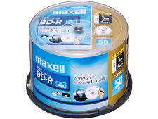 50 Maxell BD-R 25GB 4x Speed Inkjet Printable Bluray Discs Sealed in Spindle