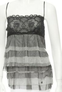 Chanel Grey в прозрачном топе в сетку