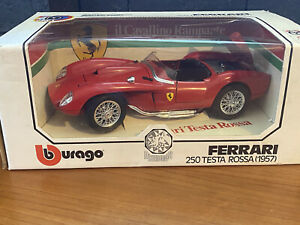 Ferrari 1957 250 Test Rossa 1:18 Scale Diecast Burago Diamonds #3007