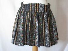 Floral Cotton Casual Flippy, Full Skirts for Women
