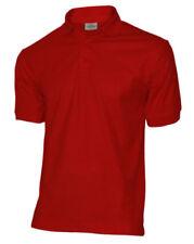 Camisas y polos de hombre rojos de algodón y poliéster