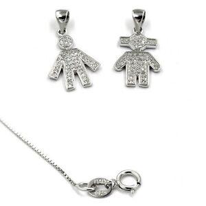 Anhänger Kette Silberkette Halskette Ehepaar Mann & Frau 925 Sterling Silber
