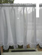 Scheibengardine Stangendurchzug Handarbeit B/H 180cm x 50cm Höhe ca. 6cm Spitze