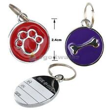 Anti-Lost Pet Dog Cat ID Tag Name Charm Tags Metal Stainless Steel Pendant