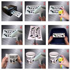 5x Wasserschiebefolie Decalfolie DIN A4 weiss weiß Inkjet Tintenstrahl