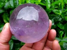 40mm Natural Amethyst Quartz Crystal Sphere Ball Healing Stone + Stand
