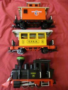PLAYMOBIL SMALL WESTERN SET 3958 ELECTRIC RAILWAY TRAIN WORKING