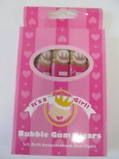 It's a Girl Bubblegum Cigars for Baby Shower Candy Party - 5 Cigars per Box