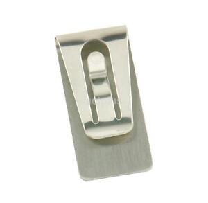 Wholesale black silver Stainless Steel Black Slim Pocket Cash Money Clip Holder
