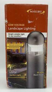NEW Malibu 8301-9300-01 Cast Metal Bollard Low Voltage Landscape Light Black 20W