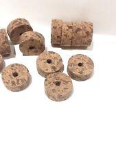 "Cork Rings 12 Premium Smoked Burl 1 1/4"" x 1/2"" x 1/4"" Hole, Save!"