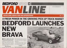 Bedford Vanline Magazine No 6 October 1988 UK Market Brochure Brava Midi 4x4