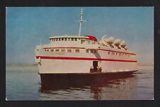 vintage M.V.Chinook Ferry ship Washington to Canada postcard