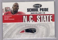 2006 Aspire MARIO WILLIAMS School Pride Helmet Sticker Relic NC State Wolfpack