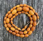 Vintage Art Deco Baltic Butterscotch Bead Necklace 15.6g
