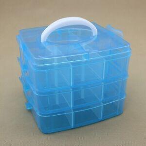 3 Layers Plastic Jewelry Bead Storage Box Container Organizer Case Craft 150mm