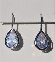 Echt 925 Sterling Silber Ohrringe Ohrhänger Tropfen Zirkonia crystal  Nr 208