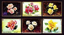 Umm al Qiwain 1972 ** Mi.675/80 A Flowers Blumen Rosen Roses Flora