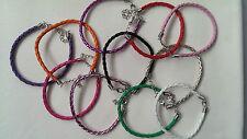 WRISTBAND Faux Leather Charm Bracelets many colors !fashionable and cheap /3