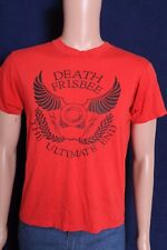 Vintage 1980s Death Frisbee The Ultimate End soft red t shirt M