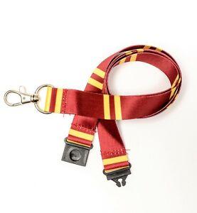 Harry Potter Gryffindor Neckstrap Lanyard For ID Holder Safety Break Away   20mm